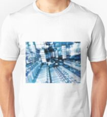 Streets of the future city - fractal pattern Unisex T-Shirt