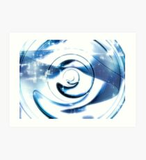 Abstract technology disk -  digitally generated image Art Print