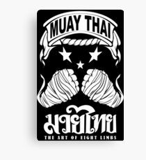 muay thai king fist Canvas Print