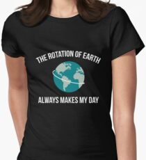 The Rotation of Earth Womens Fitted T-Shirt