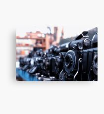 Retro Camera - Agifold square frame Canvas Print
