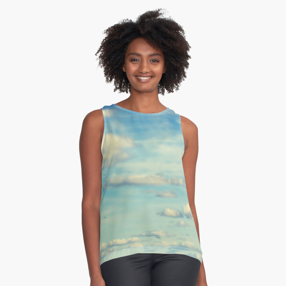 Catch a Cloud Contrast Tank Front