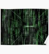 Abstract matrix pattern - digitally generated image Poster