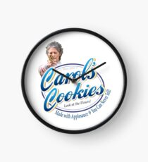 Famous Carol's Cookies Logo Clock