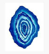 Blue Agate Photographic Print