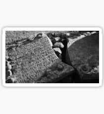 Fallen Gravestone Sticker