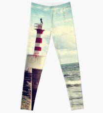 Amble Pier Lighthouse Leggings