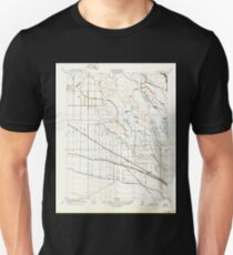 USGS TOPO Map California CA Oxalis 296390 1922 31680 geo Unisex T-Shirt