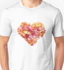 Heart of the rose petals Unisex T-Shirt