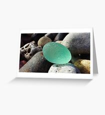 English Seaglass Gem #2 Greeting Card