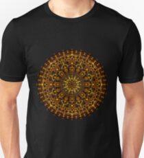 Orange and Yellow Glowing Mandala Unisex T-Shirt
