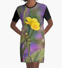Buttercup Blues Graphic T-Shirt Dress