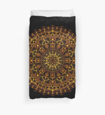 Orange and Yellow Glowing Mandala Duvet Cover