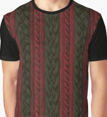 Cable Knit Stripe Graphic T-Shirt
