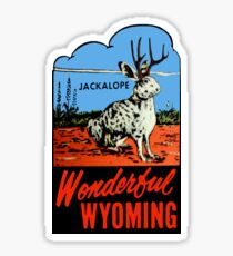 Pegatina Wyoming Jackalope Vintage Travel Decal