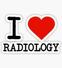 I Love Radiology Sticker
