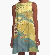 Arabian Nights City  A-Line Dress