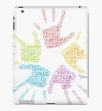 Boys hands word cloud fun iPad Case/Skin