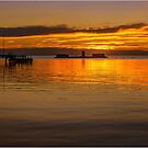 Winter Sunset - Half Moon Bay by Greg Earl