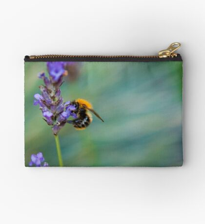 Bumble Bee on Lavender  Zipper Pouch