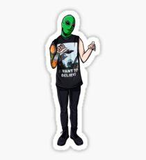 Alien Josh Sticker