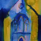 Valle Crucis Abbey (yellow & blue) by Martin Williamson (©cobbybrook)
