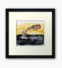 Large Retro Glass and bottle  Framed Print