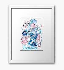 Starter's family: Primarina Framed Print