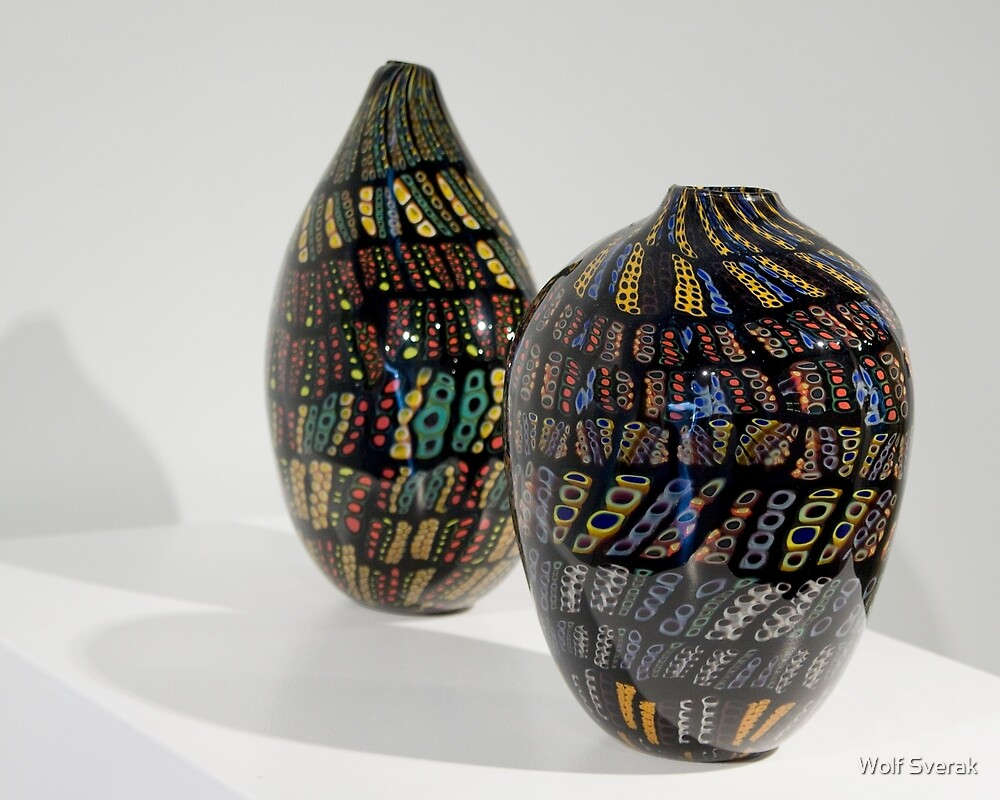 Glass art by Wolf Sverak