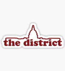 Washington DC Line Logo - Capital Sticker