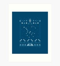 Ugly Astronomy Sweater Art Print