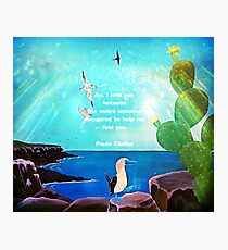 I LOVE YOU Inspirational Quote  Photographic Print
