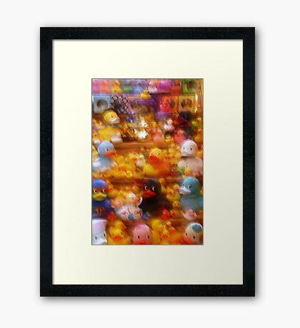 Fuzzy Ducks Framed Print
