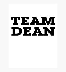Team Dean Photographic Print