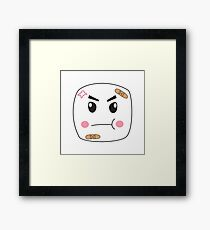 Melvin the Angry Marshmallow Framed Print