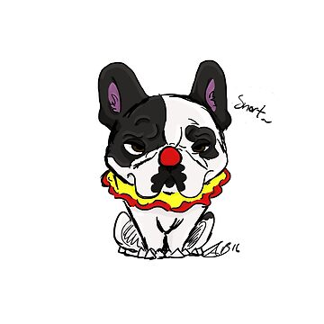 The Clown Dog by Frenchiehoarder