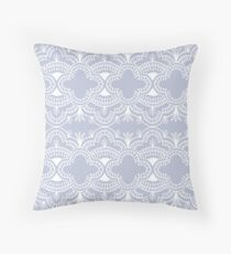 Scallop Lace Mist Mirrored Throw Pillow