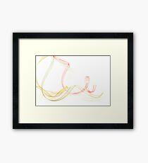 Holiday Ribbon on white background Framed Print