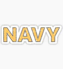 Distressed NAVY  Sticker