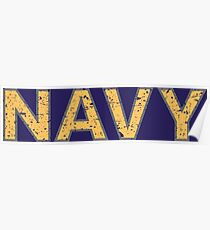 Distressed NAVY  Poster