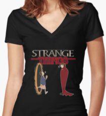 Strange Things Women's Fitted V-Neck T-Shirt