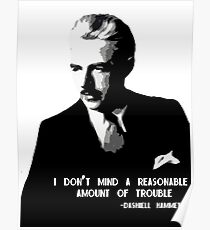 I Don't Mind A Reasonable Amount of Trouble Poster