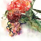 Watercolour painting of roses Day 450. by akolamble
