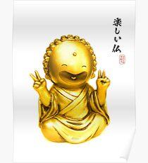 Tanoshii Buddha Poster