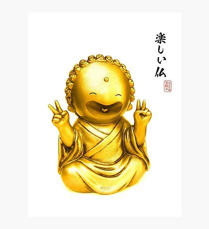 Tanoshii Buddha Photographic Print