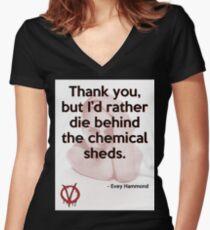 V for Vendetta Quote Women's Fitted V-Neck T-Shirt