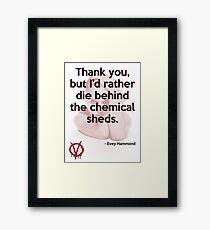 V for Vendetta Quote Framed Print