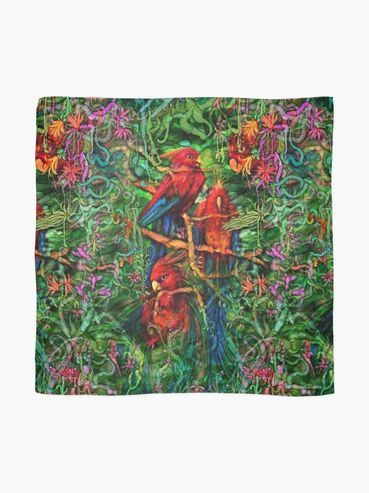 Alternate view of Qualia's Parrots Repeating Scarf