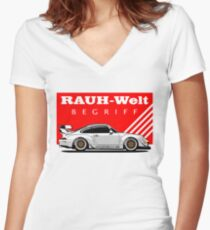 RWB Japan Women's Fitted V-Neck T-Shirt
