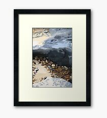 Rainbow Beach Rockpool Framed Print